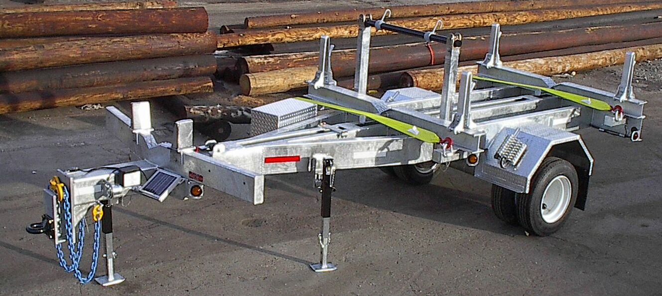 Pole trailers 1 solar battery charger 2 passenger side tool box 3 spindle bar and posts removable 4 extendable light bar on rear side aloadofball Gallery